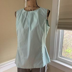 Talbots blue green blouse size 14 NWT